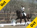 Elizabeth Ball<br>Riding and Lecturing<br>De La Frontera<br>10 yrs. old Hanoverian<br>Training: Intermediaire 2<br>Duration: 45 minutes
