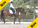 Kathy Connelly<br>Assisting<br>Mimi Lufkin<br>Bop n' Jazz<br>10 yrs. old Swedish Gelding<br>by: Amiral<br>Training: 4th level/PSG<br>Duration: 37 minutes