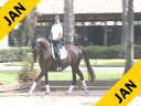 Jeremy Steinberg Riding & Lecturing Elisienne8 yrs. old Mare  Owner: Jessica Lyman) Oldenburg Training Prix St. George Duration: 49 minutes